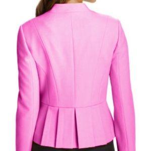NWOT [Loft] Hot Pink Collarless Tuxedo Blazer